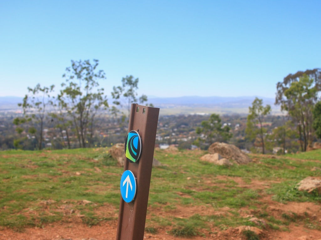 The trail summits Red Hill